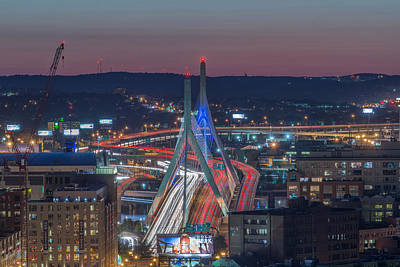 Blue And Red Zakim Poster