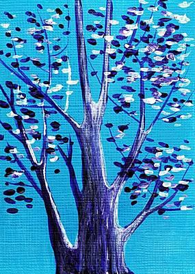 Blue And White Poster by Anastasiya Malakhova