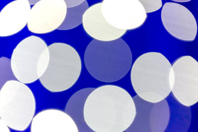 Blue And White Light Poster