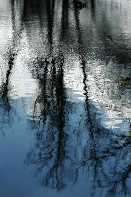 Blue And White Reflections Poster