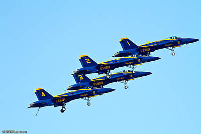 Blue Angles Poster by Brian Williamson