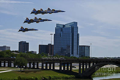 Blue Angels Over Fort Worth Poster