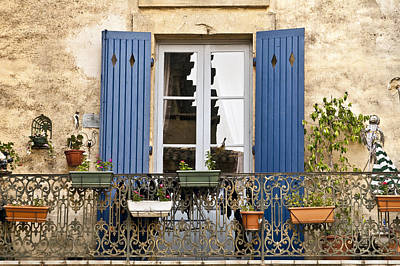 Blue Balcony Poster