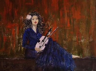 Poster featuring the painting Blue Ballad... by Cristina Mihailescu
