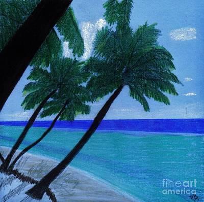 Blue - Beach Poster by D Hackett