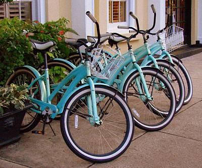 Blue Bikes Poster