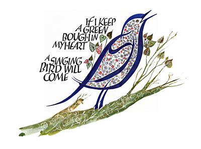 Blue Bird Poster by Dave Wood