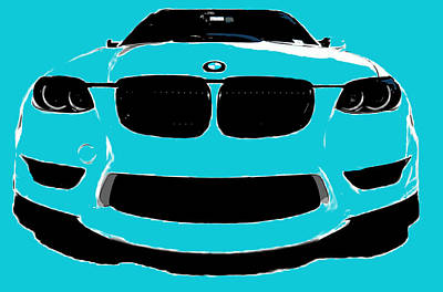 Blue Bmw Poster by J Anthony