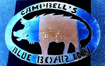 Blue Boar Inn II Poster by Larry Campbell