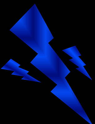 Poster featuring the digital art Blue Bolts by Gayle Price Thomas