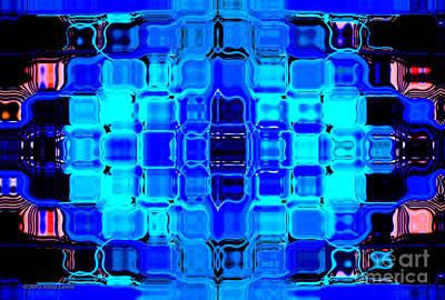 Blue Bubble Glass Poster by Anita Lewis