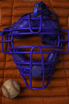 Blue Catchers Mask Poster