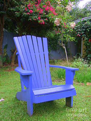 Blue Chair Poster by Mary Deal