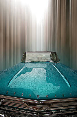 Blue Chevy Poster by Andre Faubert