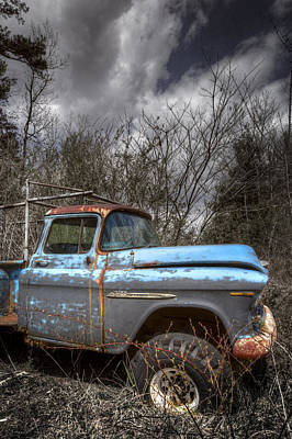Blue Chevy Truck Poster by Debra and Dave Vanderlaan