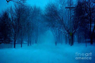 Blue Chicago Blizzard  Poster
