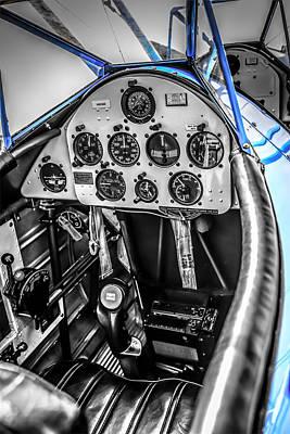 Blue Cockpit Poster