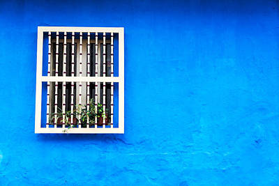 Blue Colonial Wall Poster by Jess Kraft