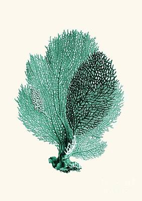 Blue Coral Poster by Patruschka Hetterschij