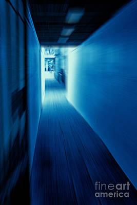 Blue Corridor Poster