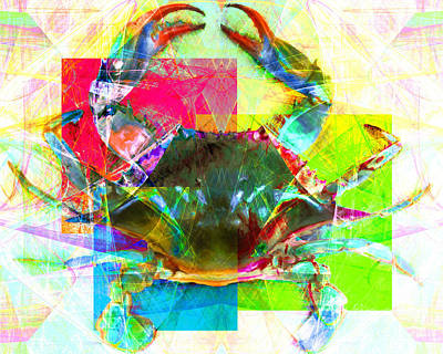Poster featuring the photograph Blue Crab 20140206v3 by Wingsdomain Art and Photography
