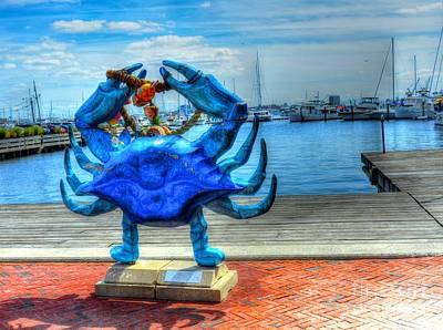 Blue Crab Poster by Debbi Granruth