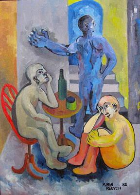 Blue Departure Poster by Moshe BenReuven