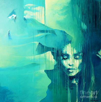 Blue Desert Poster by Lin Petershagen