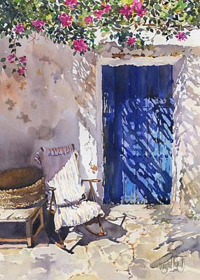 Blue Door Poster by Margaret Merry