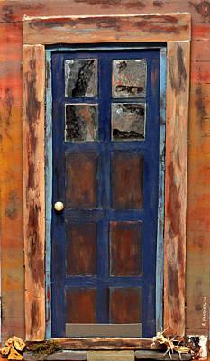Blue Door Wyoming Poster