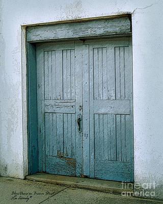 Blue Doors On Brewer Street Poster