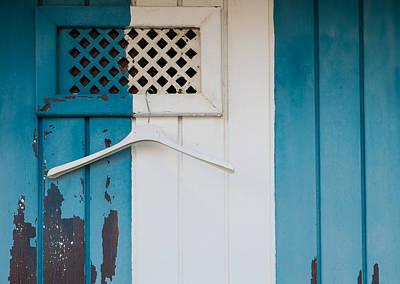 Blue Dressed Beach Poster
