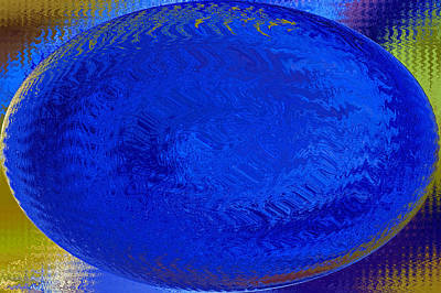 Blue Egg Abstract Poster