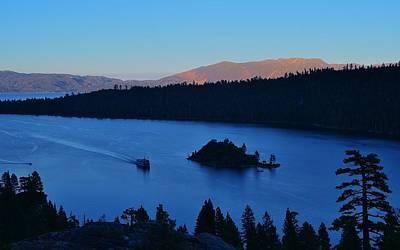 Blue Emerald Bay Lake Tahoe Poster