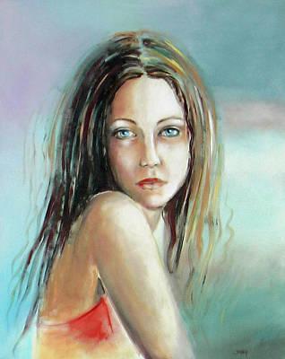 Blue Eyes Poster by Sylvia Kula