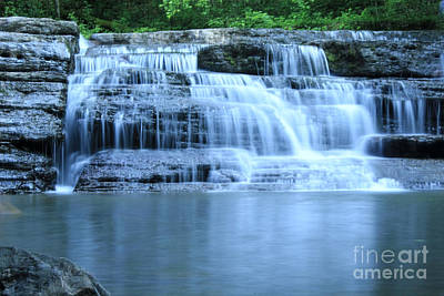 Blue Falls Poster by Melissa Petrey