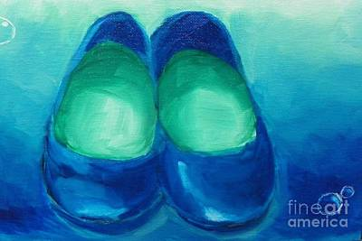 Poster featuring the painting Blue Flats by Marisela Mungia