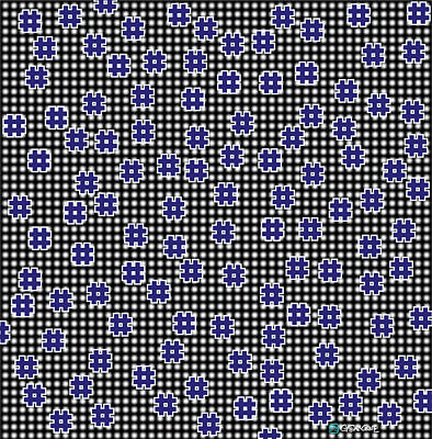 Blue Floating Squares Poster