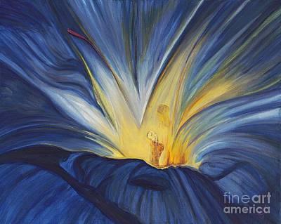 Blue Flower Center Poster by Patty Vicknair