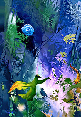 Blue Flower With Guardian Poster