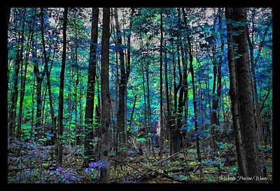 Poster featuring the photograph Blue Forrest by Michaela Preston