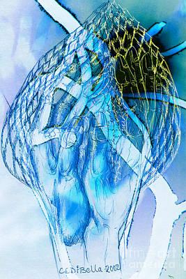 Blue Hands Poster