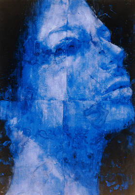 Blue Head Poster by Graham Dean