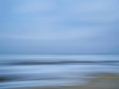 Blue Hour Beach Abstract Poster