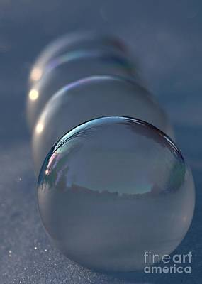 Blue Hour Frozen Bubbles Poster by Kenny Glotfelty