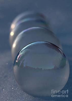 Blue Hour Frozen Bubbles Poster