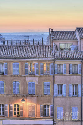 Blue Hour In Provence Poster