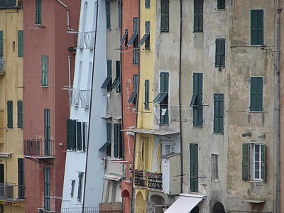 Blue House Portovenere Italy Poster by Sally Ross