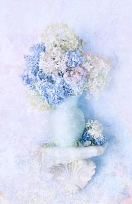 Blue Hydrangea Poster by Theresa Tahara