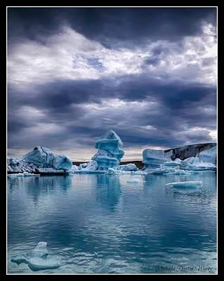 Blue Ice 2 Poster by Michaela Preston